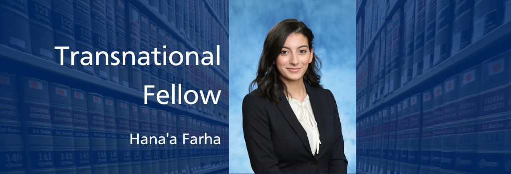 Hana'a Farha, Transnational Fellow